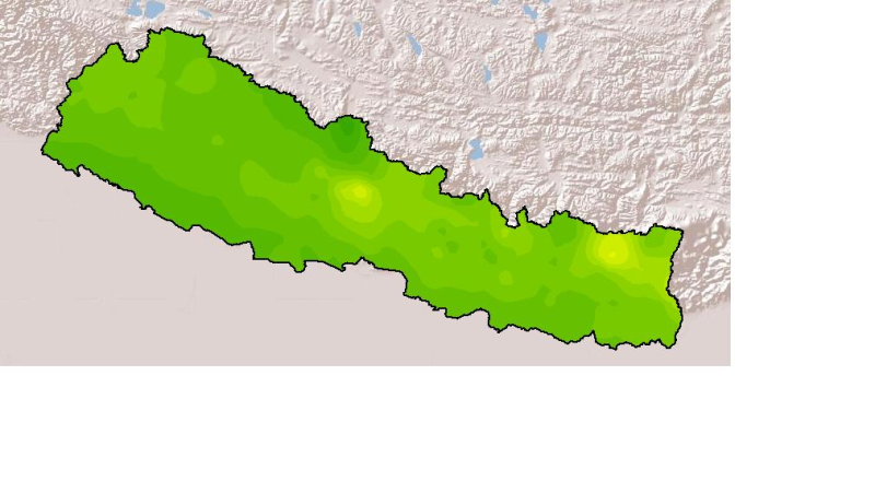 Monthly Mean Precipitation April 2001 of Nepal