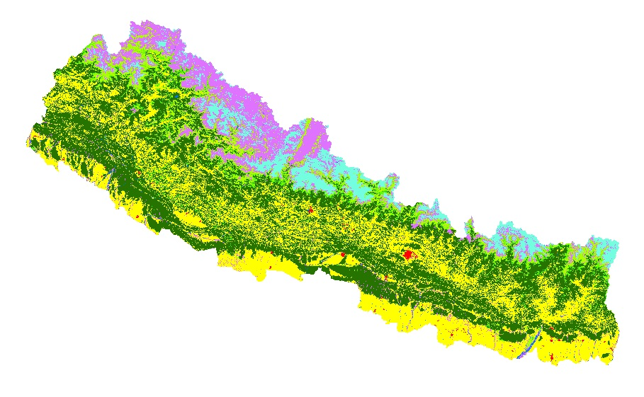 Land cover of Nepal 2000