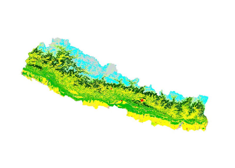 Land cover of Nepal 2010