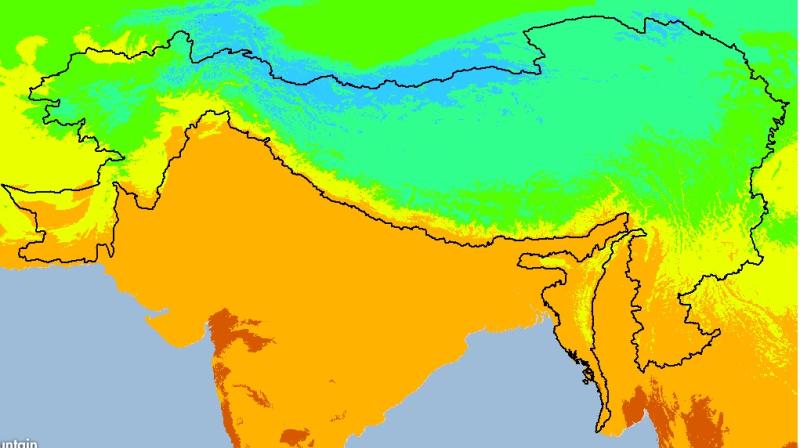 Monthly Maximum Temperature Trend (December) 1950-2000 of Hindu Kush Himalayan (HKH) Region