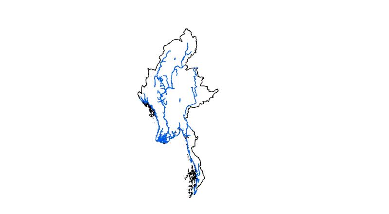 Major River System of Myanmar