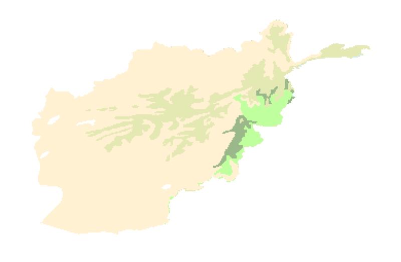 Major Habitat Area of Afghanistan