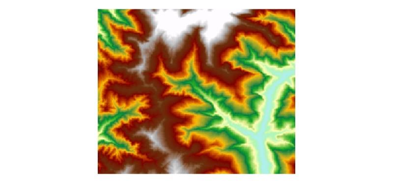 Digital Elevation Model of Charnawati River Watershed, Dolakha, Nepal