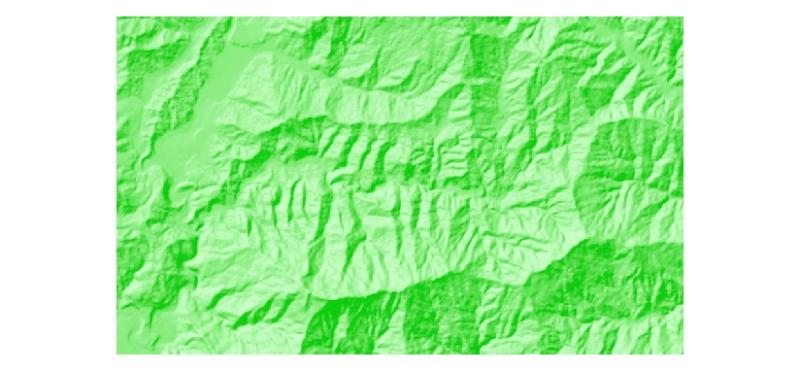 Hillshade of Ludhi Khola Watershed, Gorkha, Nepal