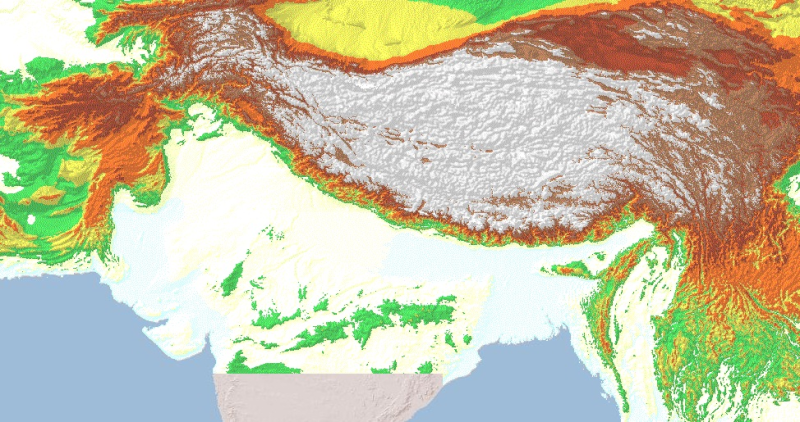 Icimod rds digital elevation model of hindu kush himalayan hkh region gumiabroncs Choice Image