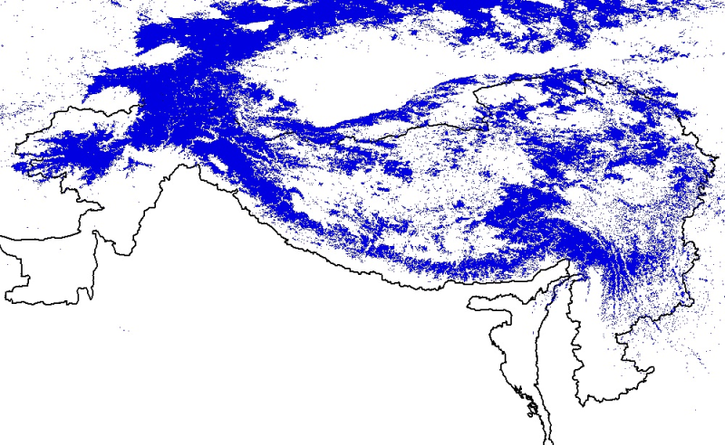 The Modis Snow Cover data of Hindu Kush Himalayan (HKH) Region