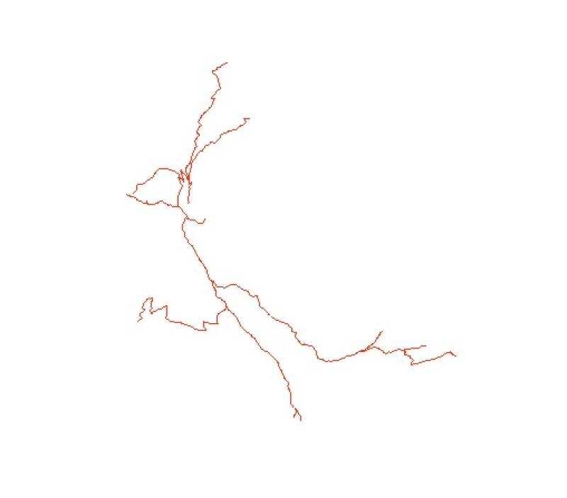 Road Network of Phobjikha, Bhutan.