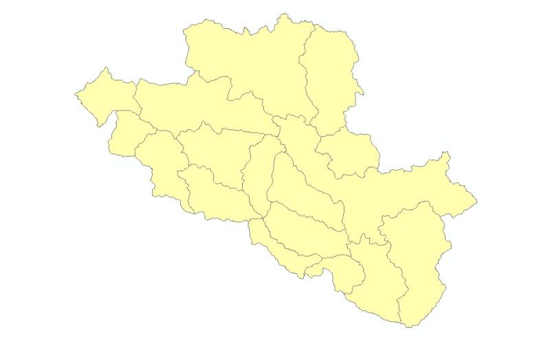 Watershed Boundary of Central Karakoram National Park(CKNP), Pakistan.