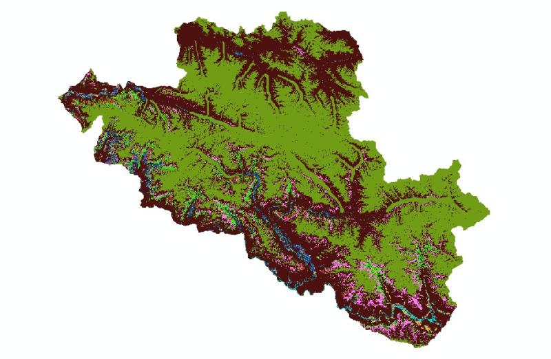 Land Cover in 2000 of Central Karakoram National Park(CKNP), Pakistan.