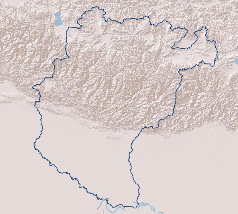 Basin Boundary of Koshi River Basin