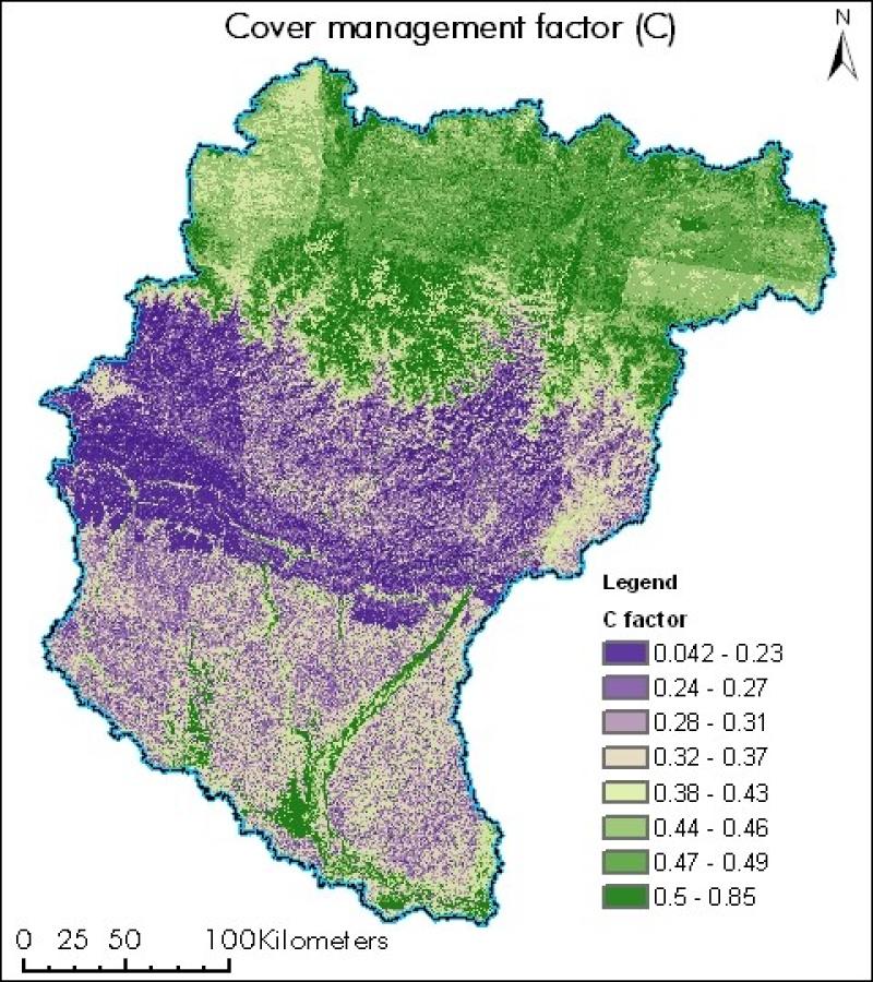 Cover Management Factor of Koshi Basin
