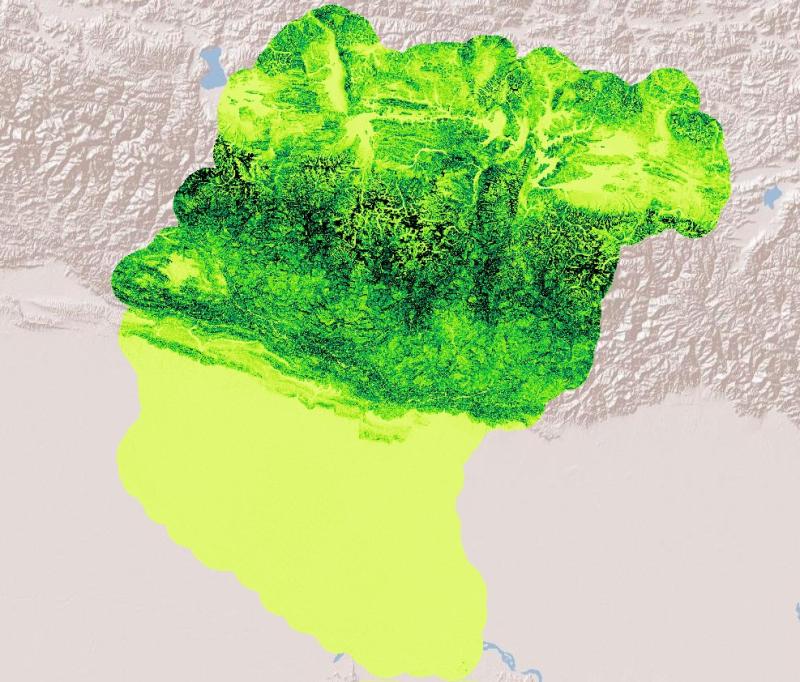 Slope of Koshi Basin