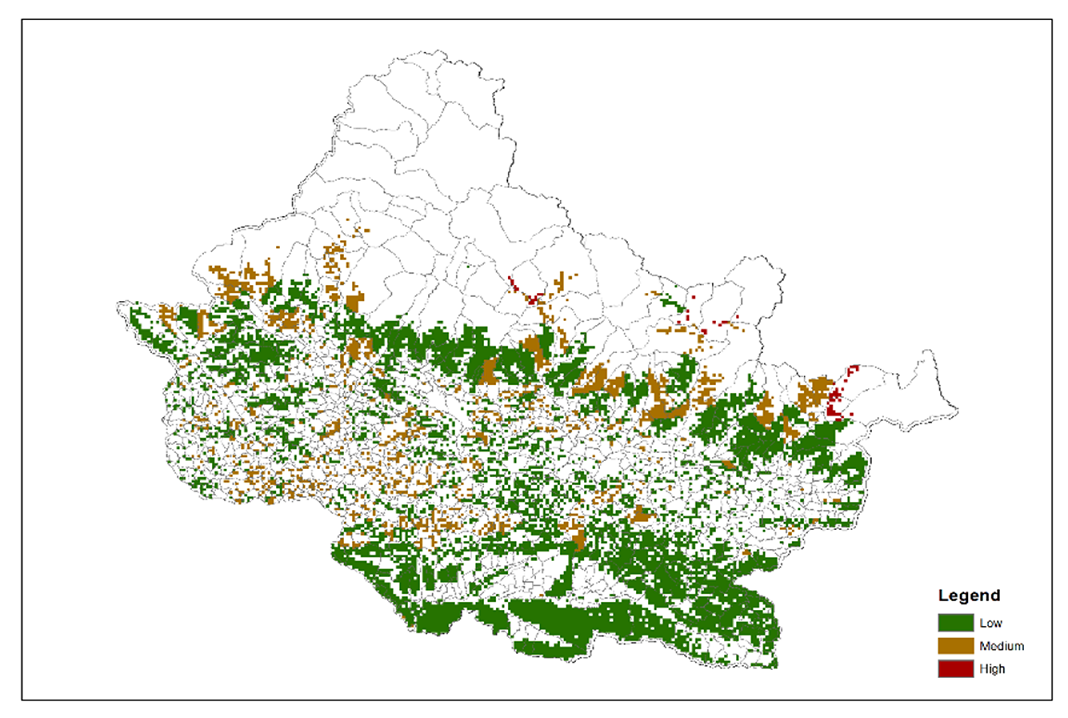 Dependence of local communities for deforestation on forest ecosystems in Chitwan Annapurna Landscape (CHAL)