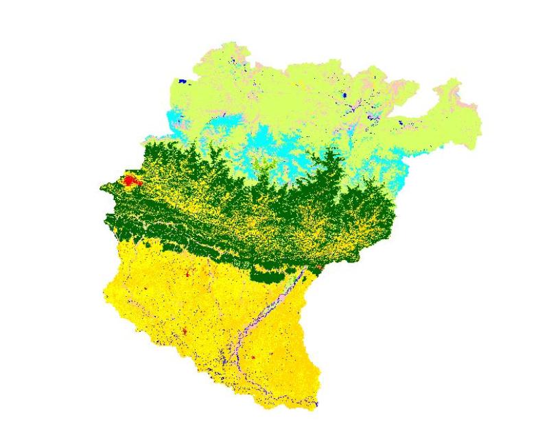 Land cover of Koshi Basin 2000
