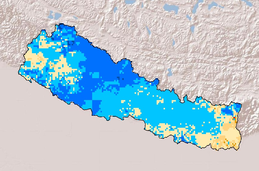 Drought Frequency in Nepal during winter season