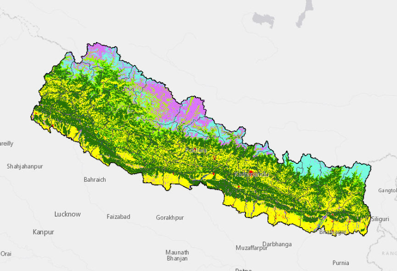 Land cover of Nepal 1990