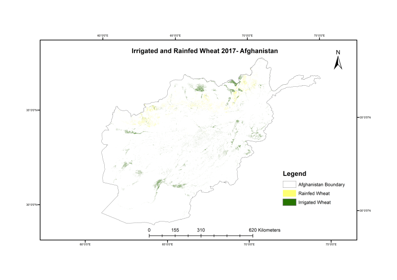 Wheat Sown Areas in Afghanistan 2017