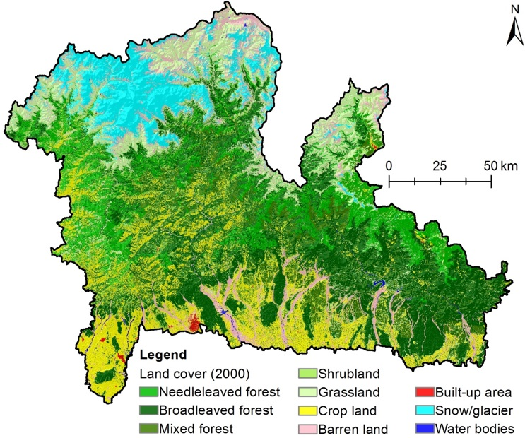 Land cover of the Kangchenjunga Landscape 2000