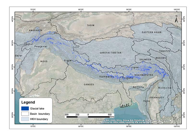 The Status of Glacial Lakes in the Hindu Kush Himalaya