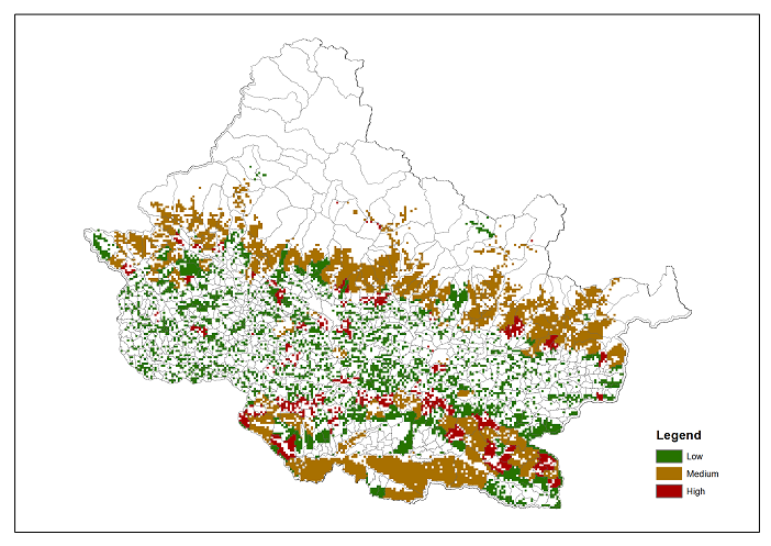 Dependence of local communities for fuelwood on forest ecosystems in Chitwan Annapurna Landscape (CHAL)
