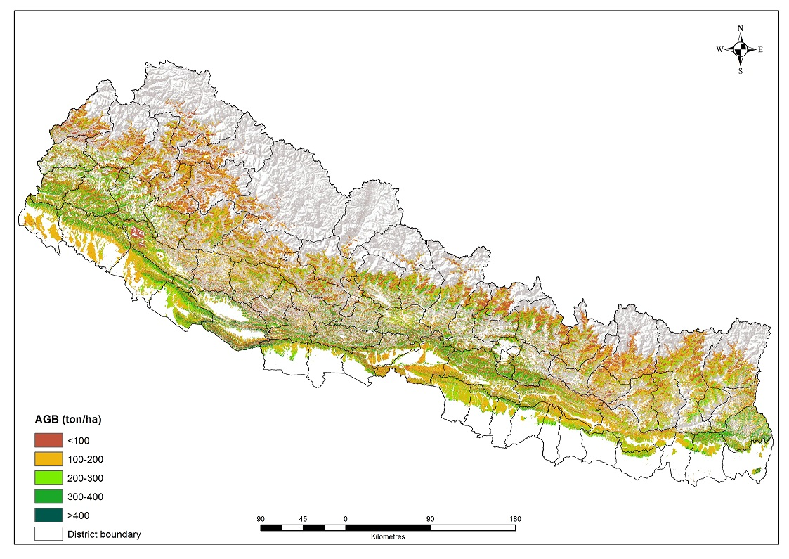 Above ground biomass (AGB) data in Nepal