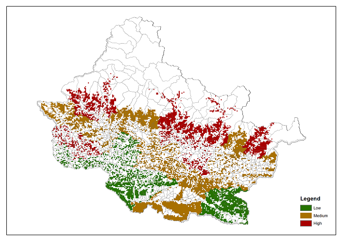 Dependence of local communities for grazing on forest ecosystems in Chitwan Annapurna Landscape (CHAL)