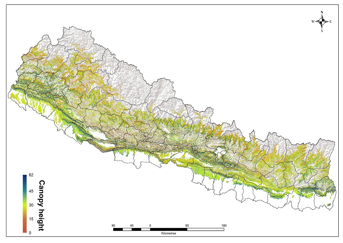 Maximum Tree Canopy Height data of Nepal