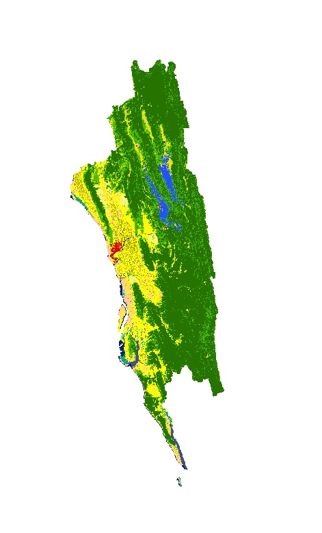 Land Cover of Greater Chittagong, Bangladesh 1989