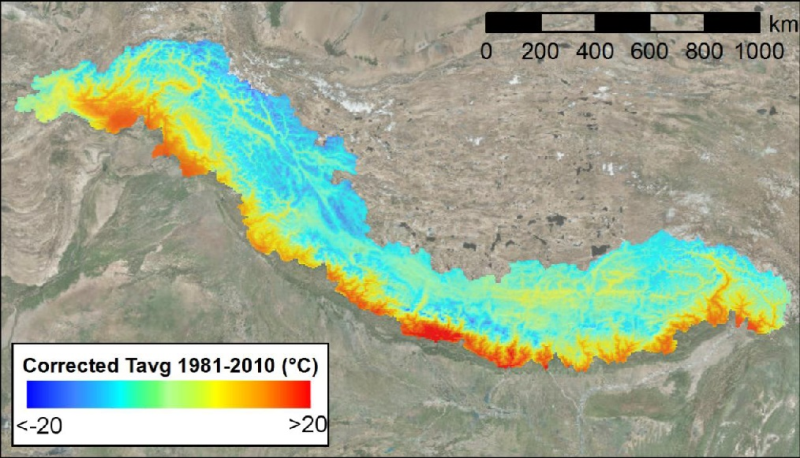 High resolution 5 km daily reference climate dataset of upper Indus, upper  Ganges, and upper  Bramhmaputra river basins from 1981 to 2010