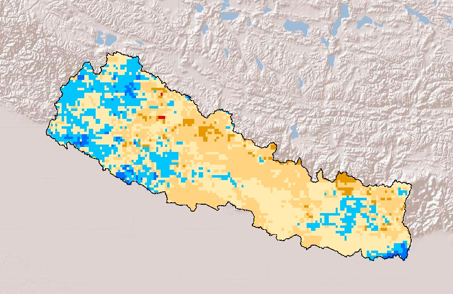 Drought Frequency in Nepal during Spring season.