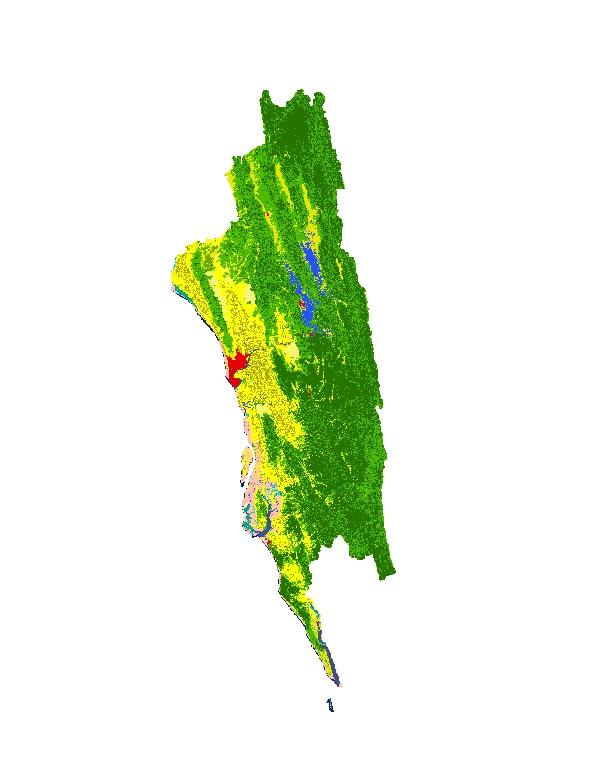 Land Cover of Greater Chittagong, Bangladesh 2010